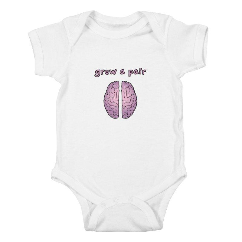 Grow A Pair Kids Baby Bodysuit by Zachary Knight | Artist Shop