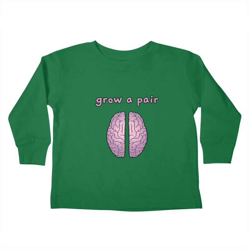 Grow A Pair Kids Toddler Longsleeve T-Shirt by Zachary Knight | Artist Shop