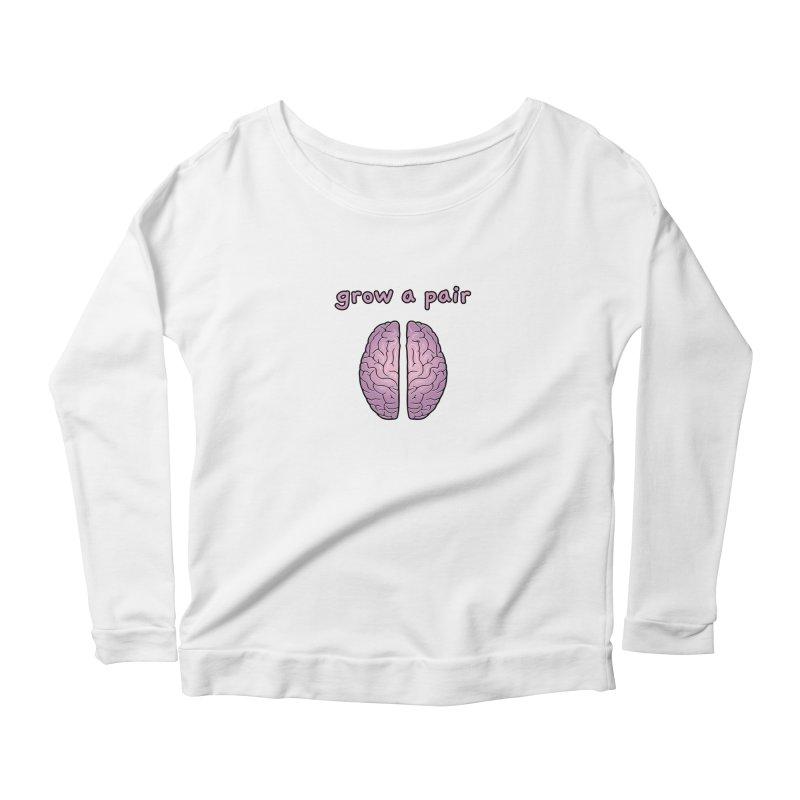Grow A Pair Women's Scoop Neck Longsleeve T-Shirt by Zachary Knight | Artist Shop