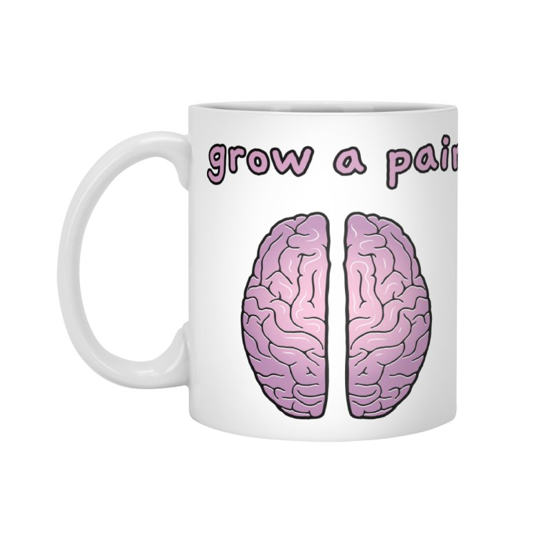 Grow A Pair Accessories Standard Mug by Zachary Knight | Artist Shop