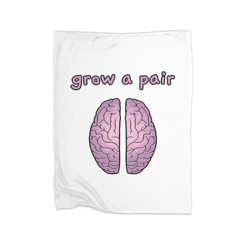 Grow A Pair Home Fleece Blanket Blanket by Zachary Knight | Artist Shop