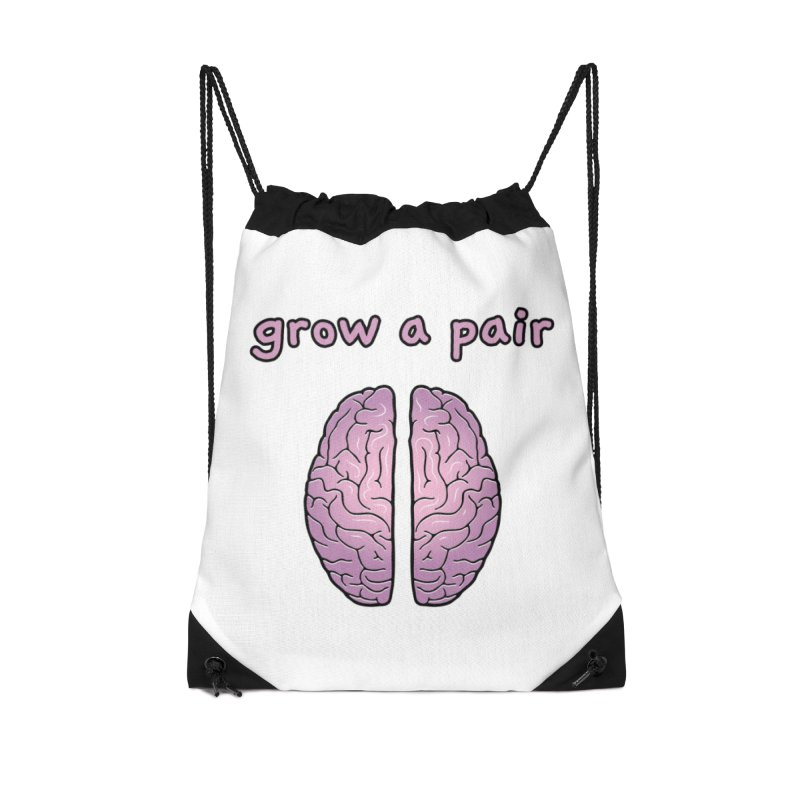Grow A Pair Accessories Drawstring Bag Bag by Zachary Knight | Artist Shop