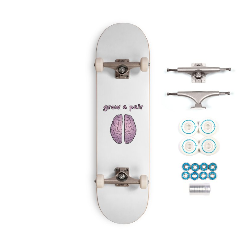 Grow A Pair Accessories Skateboard by Zachary Knight | Artist Shop