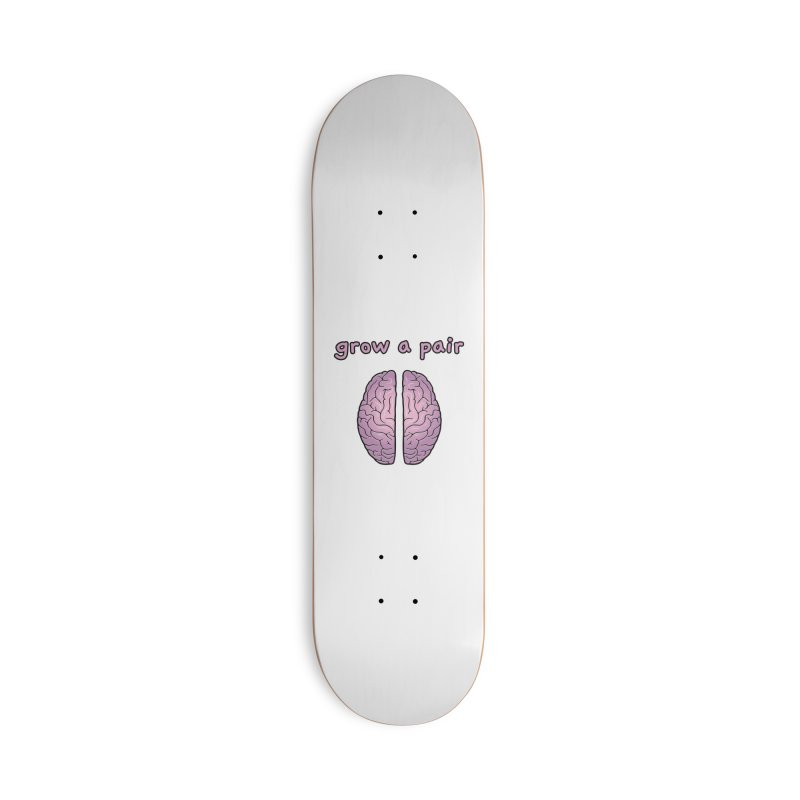 Grow A Pair Accessories Deck Only Skateboard by Zachary Knight | Artist Shop