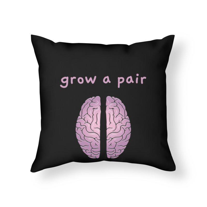 Grow A Pair Home Throw Pillow by Zachary Knight | Artist Shop
