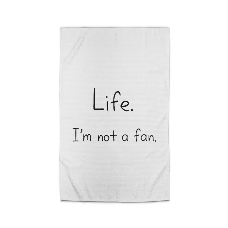 Not A Fan Home Rug by Zachary Knight | Artist Shop