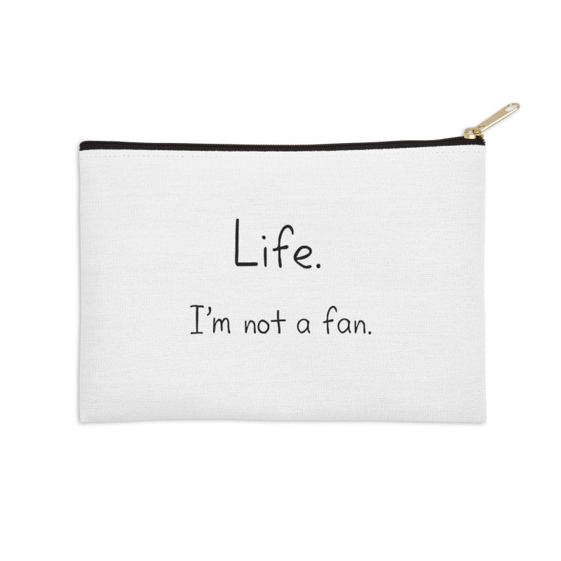Not A Fan Accessories Zip Pouch by Zachary Knight | Artist Shop