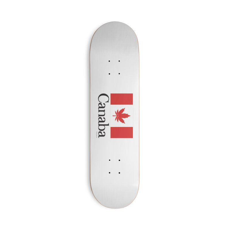 Canaba - Style A Accessories Deck Only Skateboard by Zachary Knight | Artist Shop