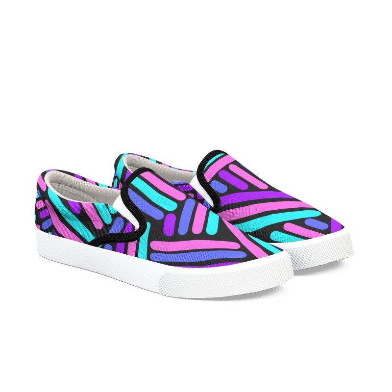 Neon Sticks Women's Slip-On Shoes by Zonkt's Artist Shop