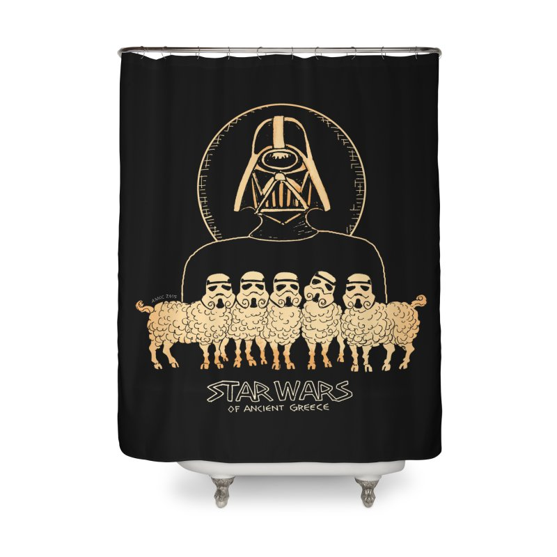 Star Wars of Ancient Greece - Vader Home Shower Curtain by Aaron McConnell's Artist Shop