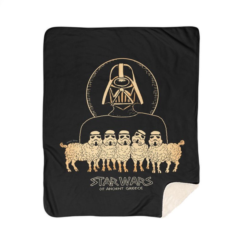 Star Wars of Ancient Greece - Vader Home Blanket by Aaron McConnell's Artist Shop