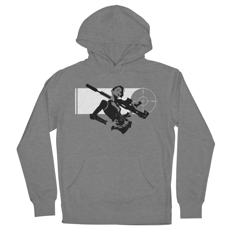 Assassin in Women's French Terry Pullover Hoody Heather Graphite by aaronjriley's Artist Shop