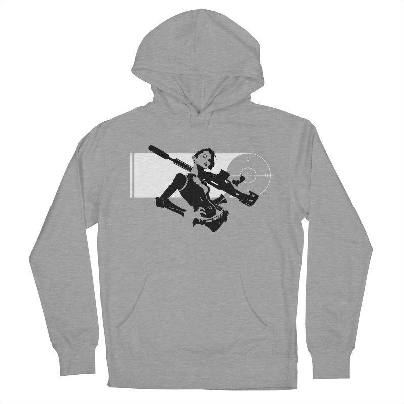 Assassin in Women's Pullover Hoody Heather Graphite by aaronjriley's Artist Shop