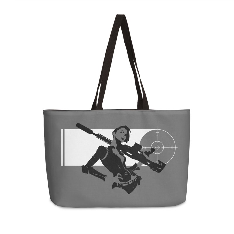 Assassin Accessories Weekender Bag Bag by aaronjriley's Artist Shop