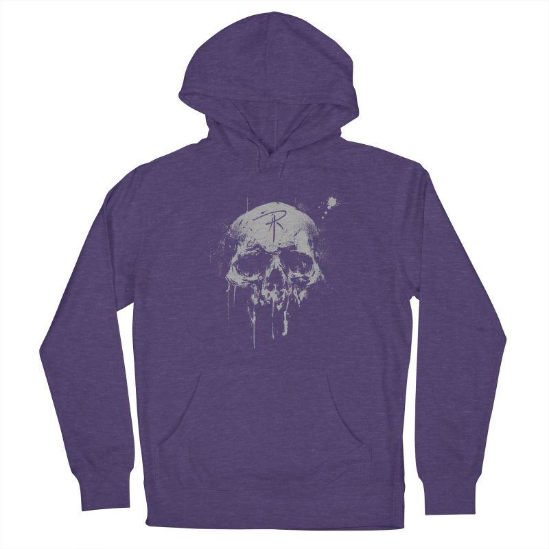 Aaron J. Riley Skull Design Women's French Terry Pullover Hoody by aaronjriley's Artist Shop