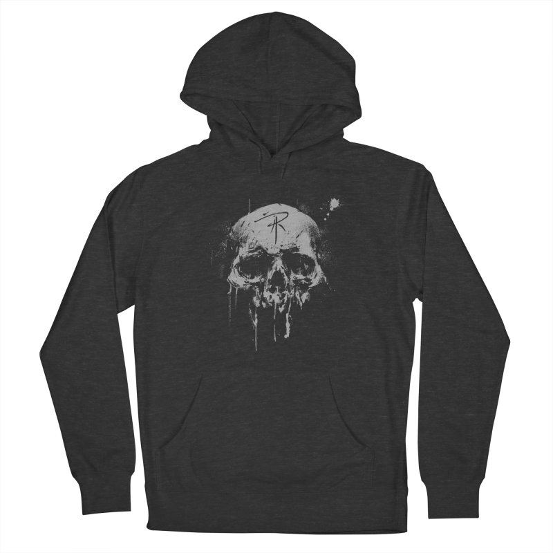 Aaron J. Riley Skull Design Men's French Terry Pullover Hoody by aaronjriley's Artist Shop