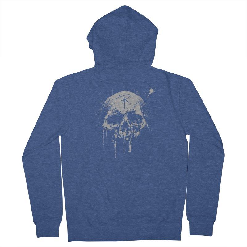 Aaron J. Riley Skull Design Men's Zip-Up Hoody by aaronjriley's Artist Shop