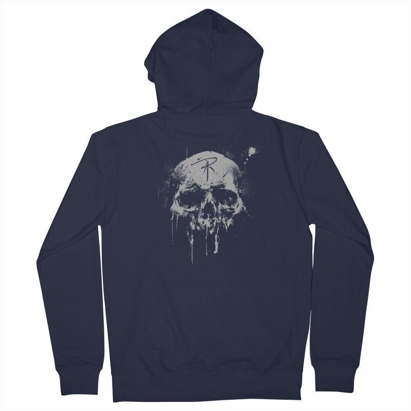 Aaron J. Riley Skull Design Men's French Terry Zip-Up Hoody by aaronjriley's Artist Shop