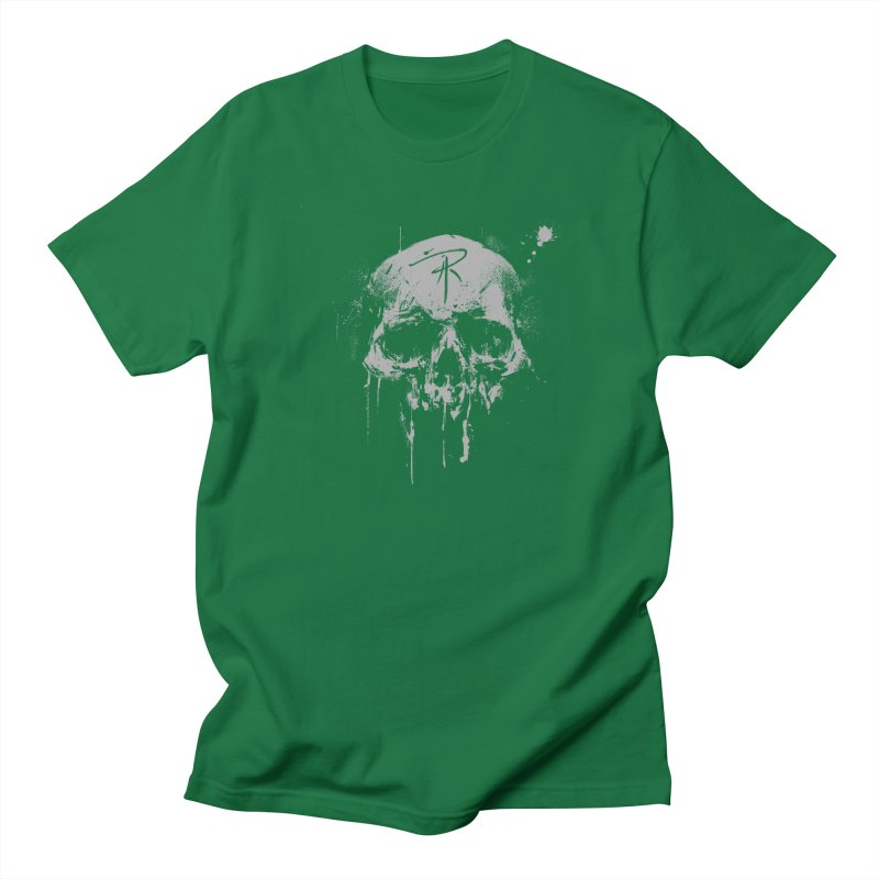 Aaron J. Riley Skull Design Women's Regular Unisex T-Shirt by aaronjriley's Artist Shop