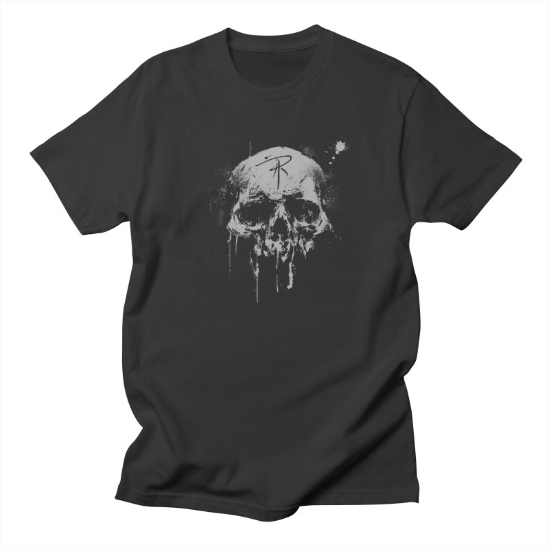 Aaron J. Riley Skull Design in Men's Regular T-Shirt Smoke by aaronjriley's Artist Shop