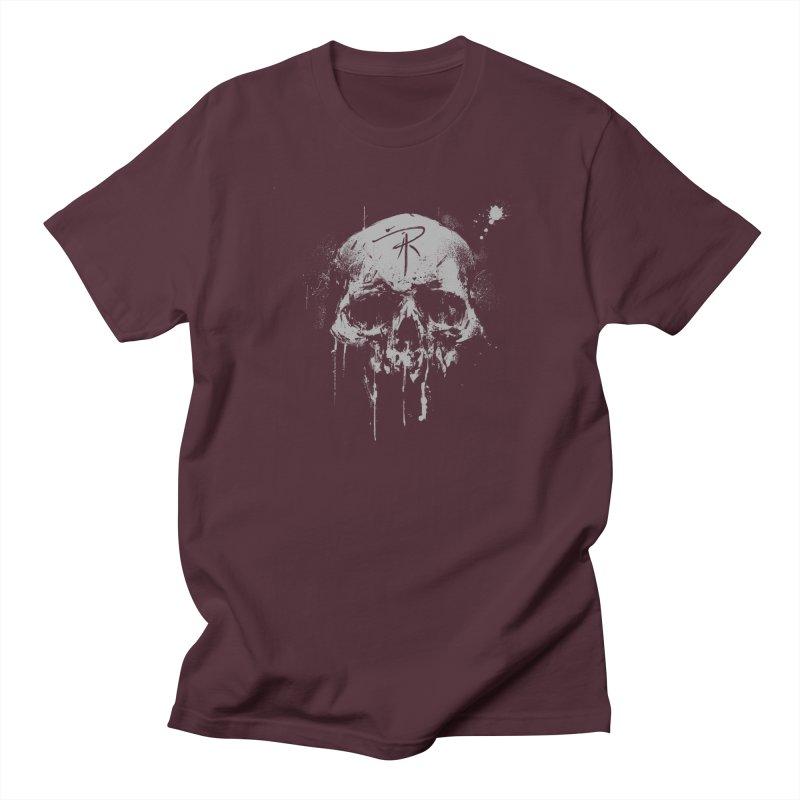 Aaron J. Riley Skull Design Women's Regular Unisex T-Shirt by aaronjriley's Artist Shop