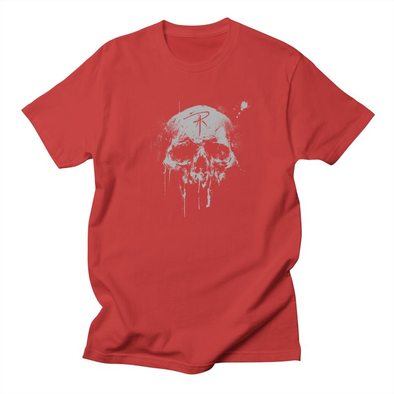 Aaron J. Riley Skull Design Men's Regular T-Shirt by aaronjriley's Artist Shop