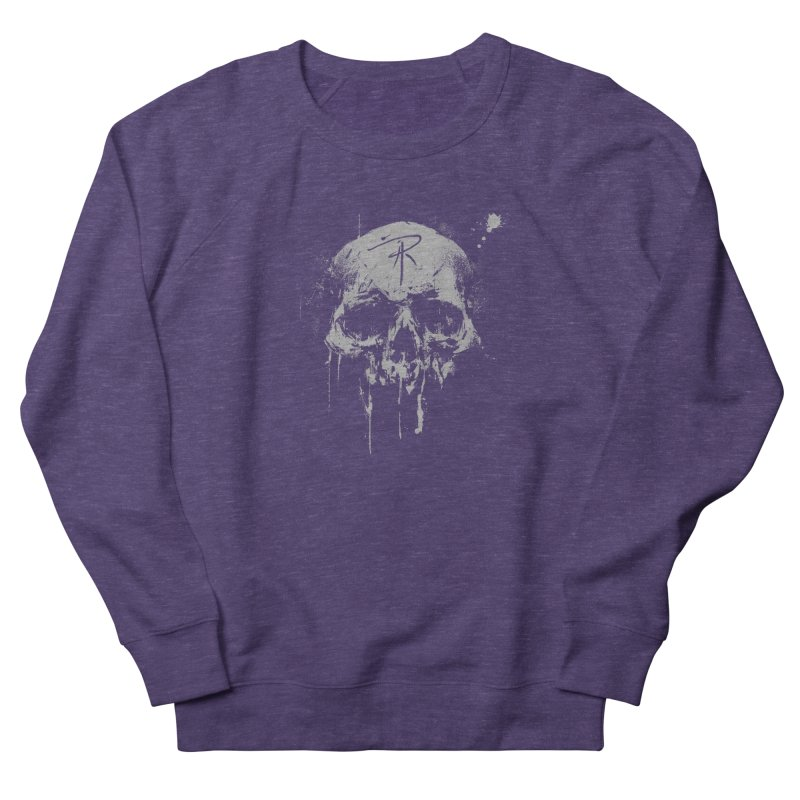 Aaron J. Riley Skull Design Men's French Terry Sweatshirt by aaronjriley's Artist Shop