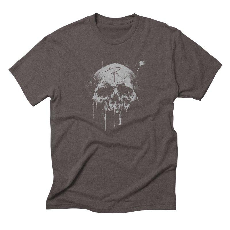 Aaron J. Riley Skull Design Men's Triblend T-Shirt by aaronjriley's Artist Shop