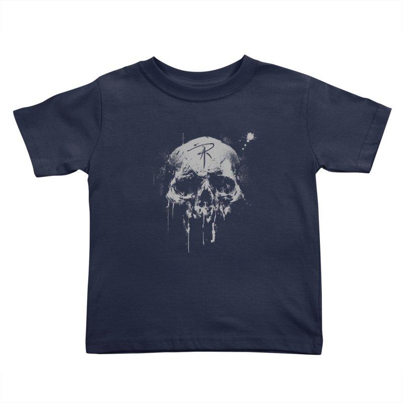 Aaron J. Riley Skull Design Kids Toddler T-Shirt by aaronjriley's Artist Shop