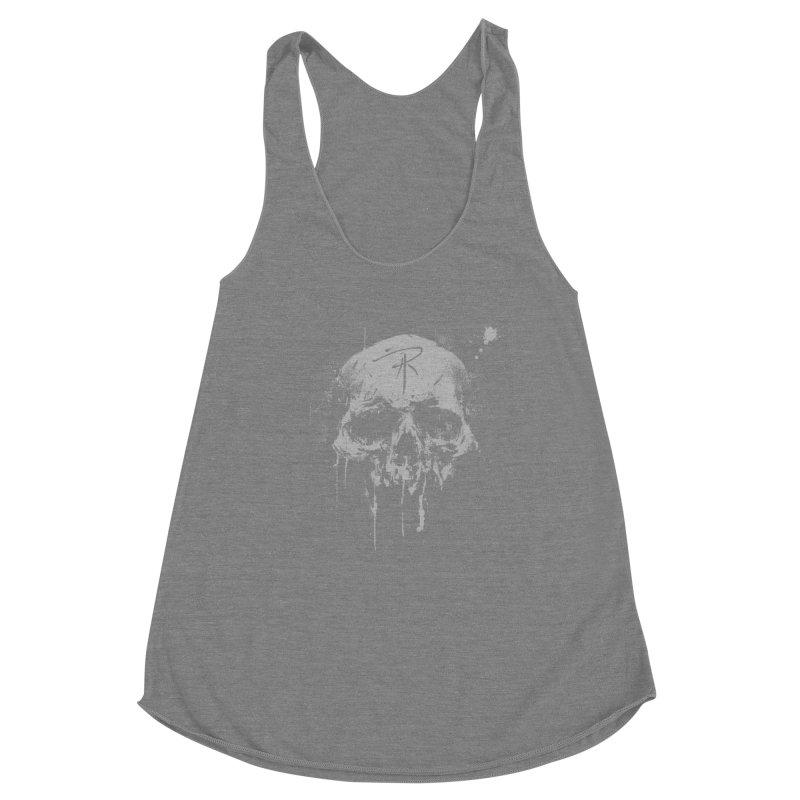 Aaron J. Riley Skull Design Women's Tank by aaronjriley's Artist Shop