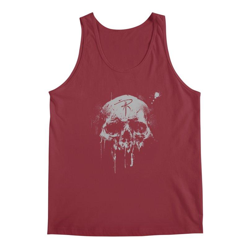 Aaron J. Riley Skull Design Men's Tank by aaronjriley's Artist Shop