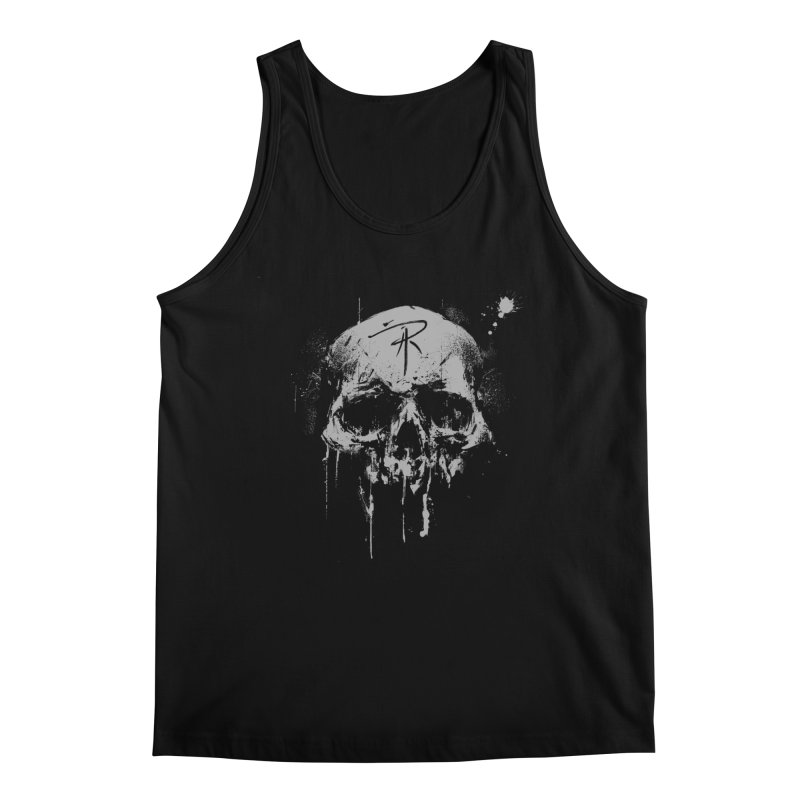 Aaron J. Riley Skull Design Men's Regular Tank by aaronjriley's Artist Shop
