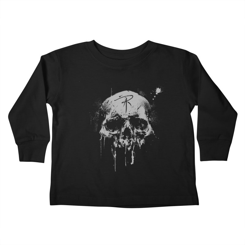 Aaron J. Riley Skull Design Kids Toddler Longsleeve T-Shirt by aaronjriley's Artist Shop