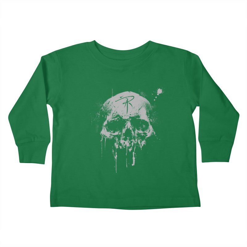 Aaron J. Riley Skull Design Kids Toddler Longsleeve T-Shirt by aaronjriley's Artist Shop