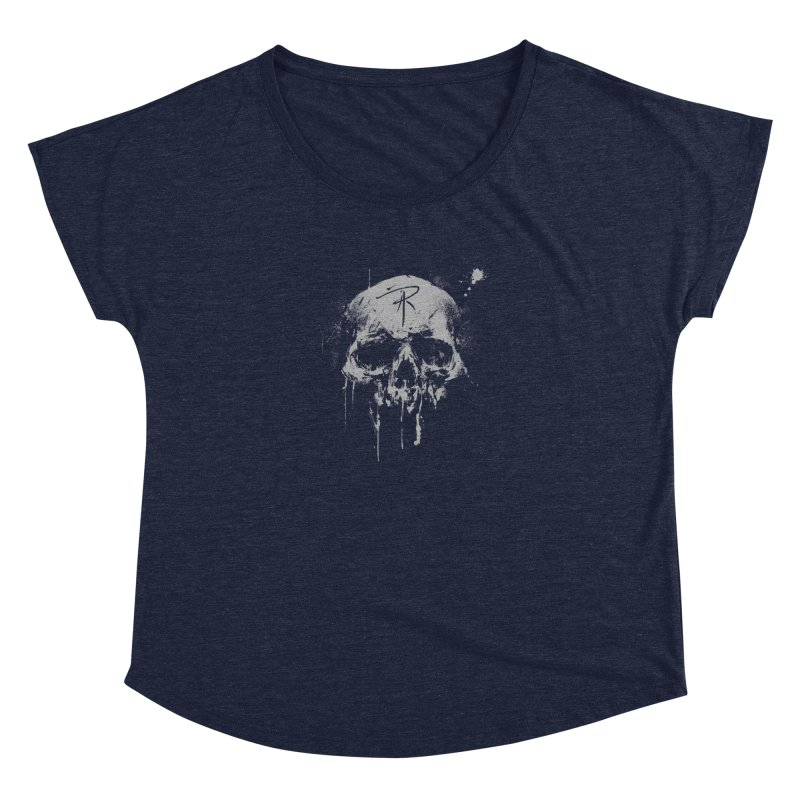 Aaron J. Riley Skull Design Women's Dolman Scoop Neck by aaronjriley's Artist Shop