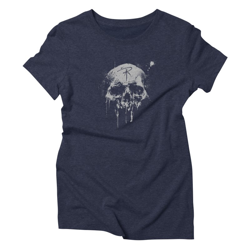 Aaron J. Riley Skull Design Women's Triblend T-Shirt by aaronjriley's Artist Shop