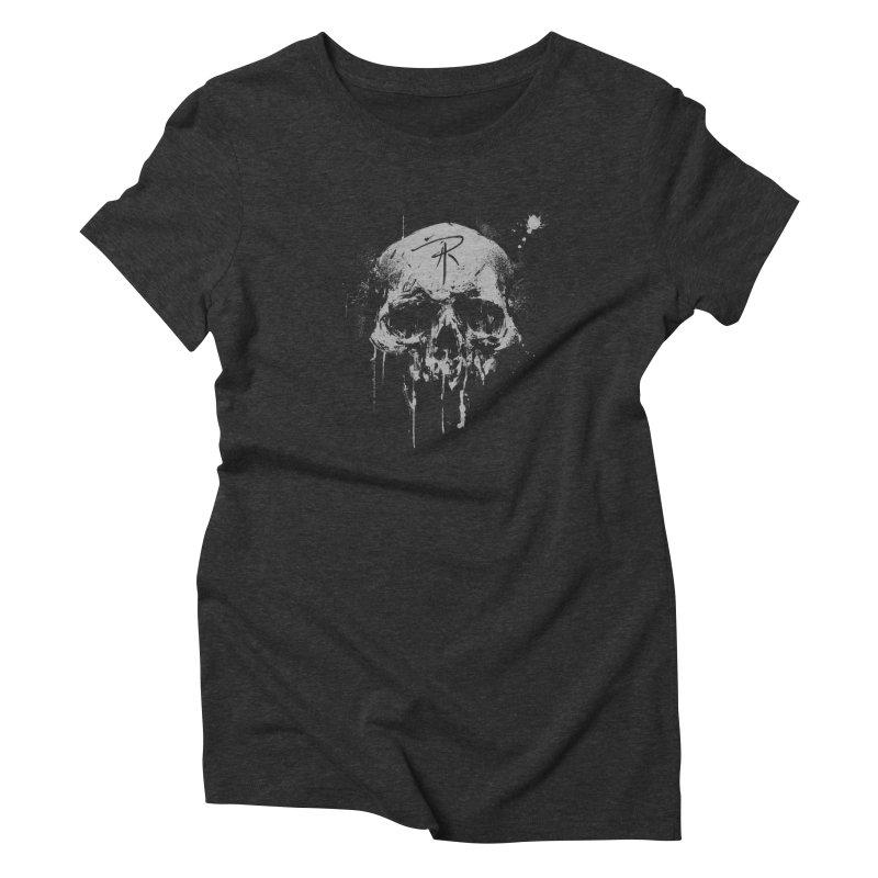 Aaron J. Riley Skull Design Women's Triblend T-Shirt by aaronjriley's Artist Shop