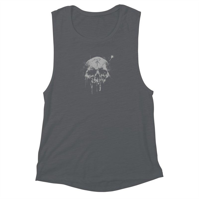 Aaron J. Riley Skull Design Women's Muscle Tank by aaronjriley's Artist Shop