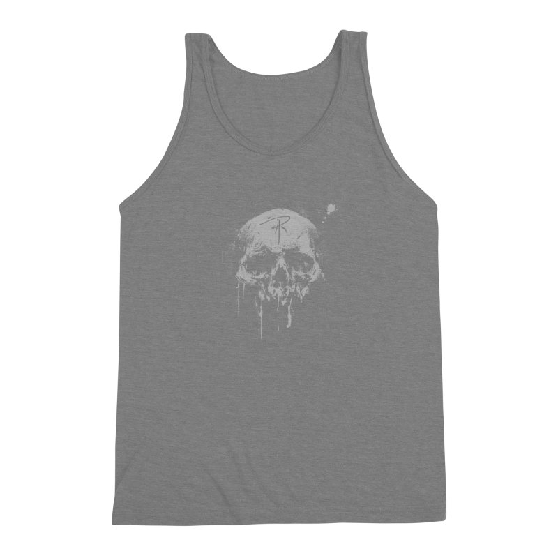 Aaron J. Riley Skull Design Men's Triblend Tank by aaronjriley's Artist Shop