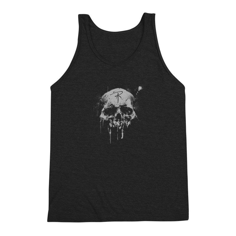 Aaron J. Riley Skull Design Men's Triblend Tank by aaronjriley's Artist Shop