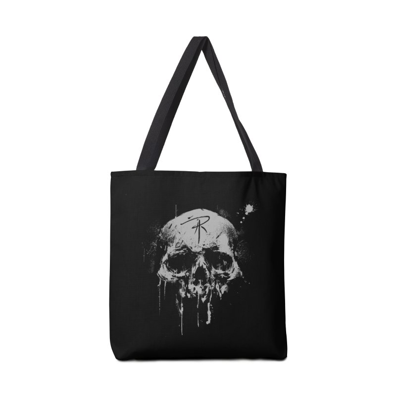 Aaron J. Riley Skull Design Accessories Tote Bag Bag by aaronjriley's Artist Shop