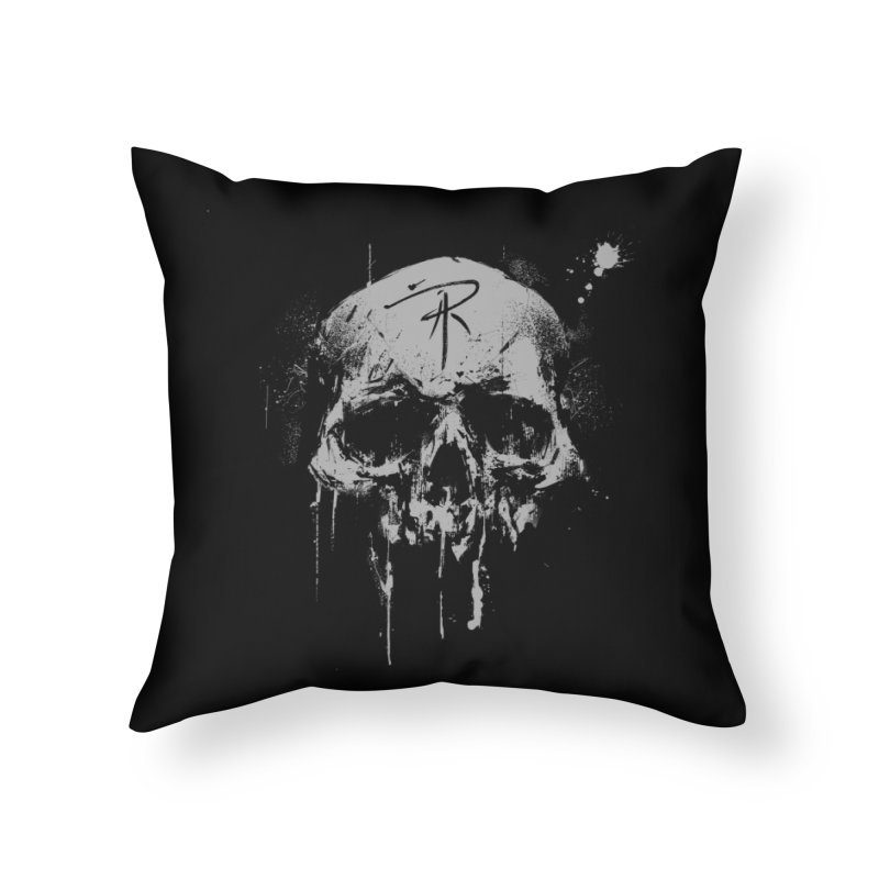 Aaron J. Riley Skull Design Home Throw Pillow by aaronjriley's Artist Shop