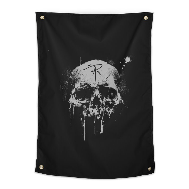 Aaron J. Riley Skull Design Home Tapestry by aaronjriley's Artist Shop
