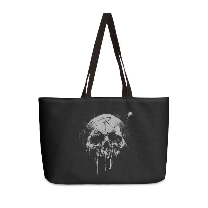 Aaron J. Riley Skull Design Accessories Weekender Bag Bag by aaronjriley's Artist Shop
