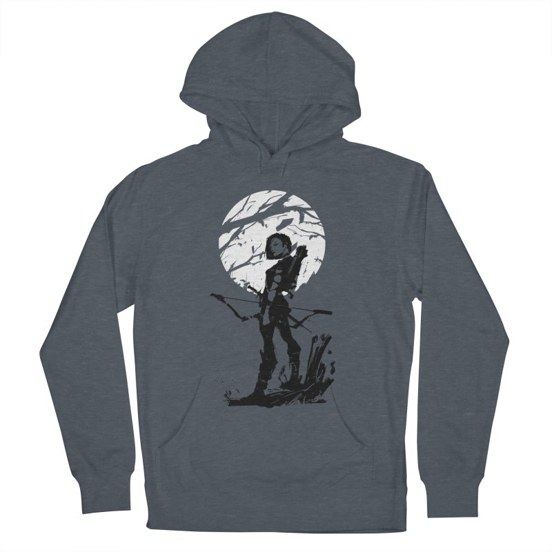 Moonlight Hunt Women's French Terry Pullover Hoody by aaronjriley's Artist Shop