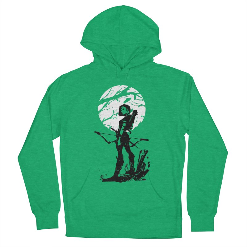 Moonlight Hunt Men's French Terry Pullover Hoody by aaronjriley's Artist Shop