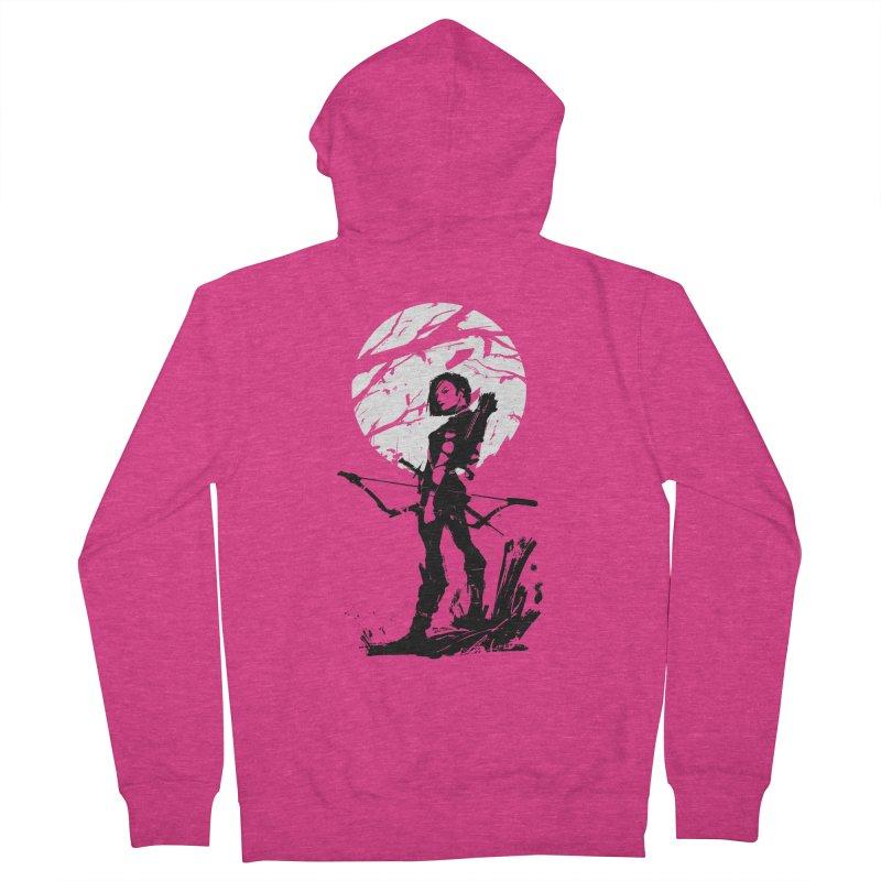 Moonlight Hunt Women's French Terry Zip-Up Hoody by aaronjriley's Artist Shop