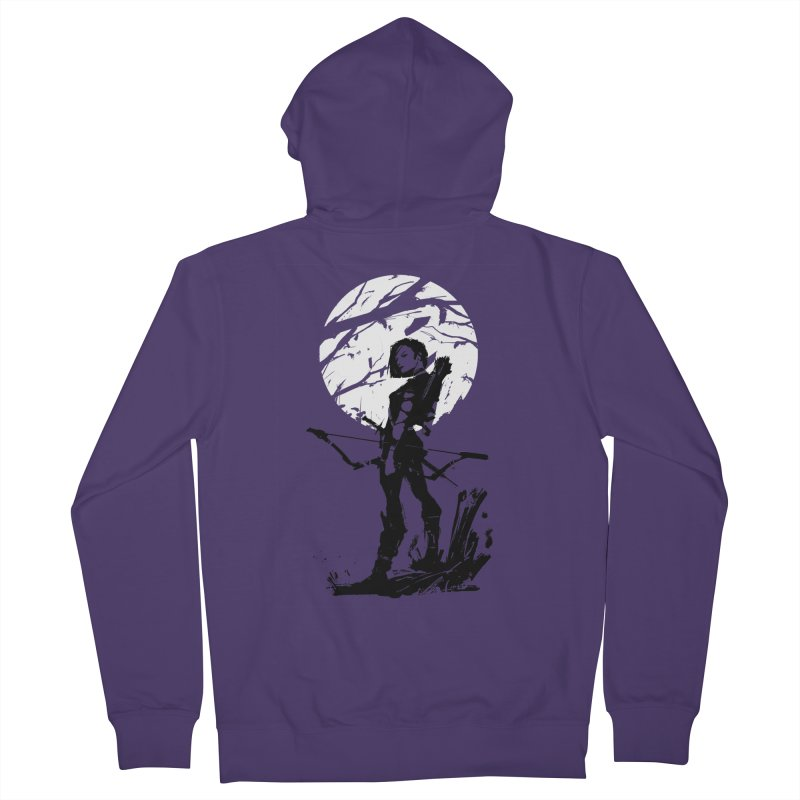 Moonlight Hunt Women's French Terry Zip-Up Hoody by aaronjriley's Artist Shop