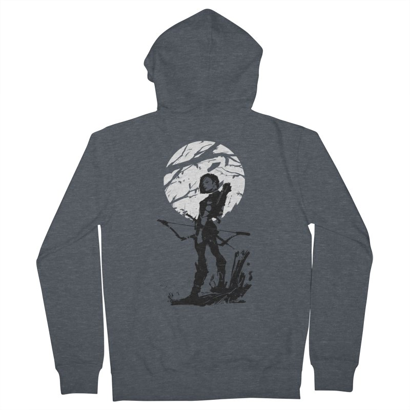 Moonlight Hunt Men's French Terry Zip-Up Hoody by aaronjriley's Artist Shop