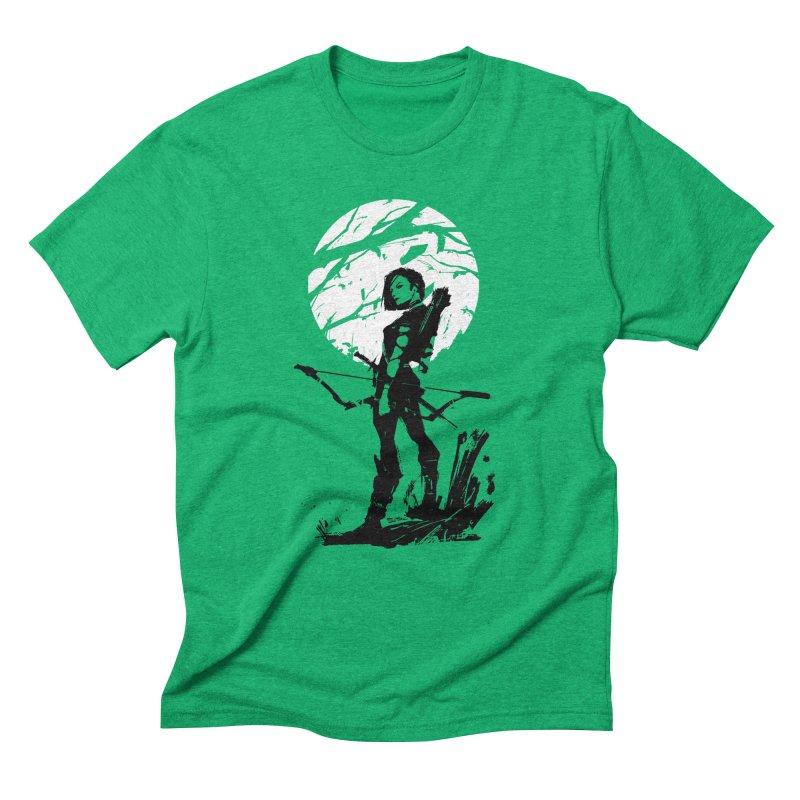 Moonlight Hunt Men's Triblend T-Shirt by aaronjriley's Artist Shop